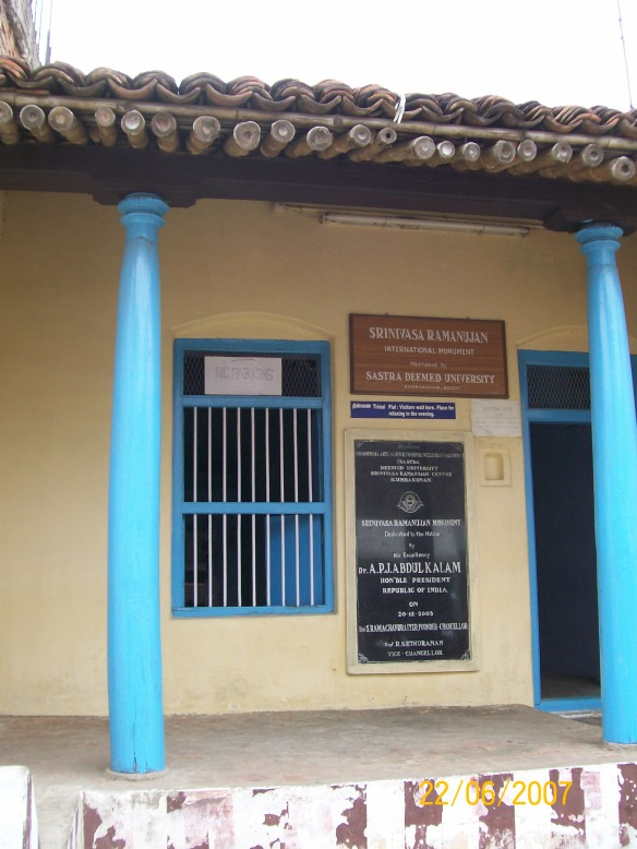 Mathematician Ramanujan Memorial